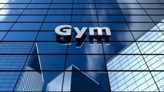 Gym building blue sky timelapse.