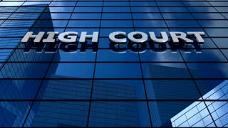 High court building blue sky timelapse.