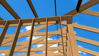 House construction, contractor, worker, meterial, wood, in progress, resident.