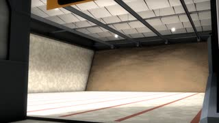 Indoor shooting range, sport, active, olympic, aim.