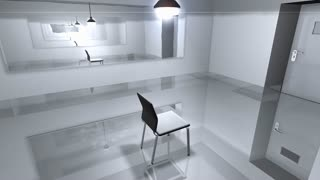 Interrogation room, police, suspect, questioning.