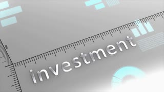 Investment decreasing chart, statistic and data