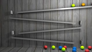 kinect art animation, ball, gravity, reflect, inertia.