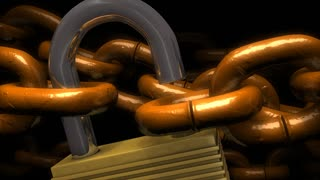 Locked chains, metal, secure, background, safety, guaranty.