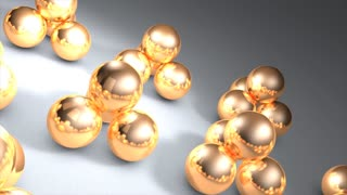 Loop background animation, metal ball.