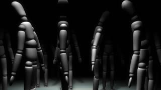 Manikin doll camera movement animation.