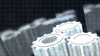 Mechanical engineering background animation.