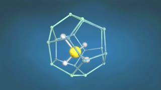 Methane hydrate molecule structure.