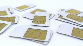 Mobile telecommunication sim card.