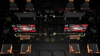 Network control room, sci-fi concept.