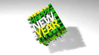New year graphic animtion, text, background.