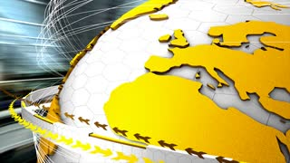 News interface design, background, globe, network.