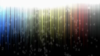 Numerical background animation, abstract, art, random, stripes.