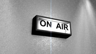 On Air, light, signal, online, radio, studio, television.