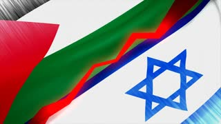 Palestine Israel conflict concept animation.