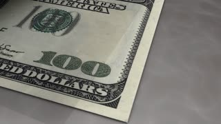 Paper money flips animation Dollar