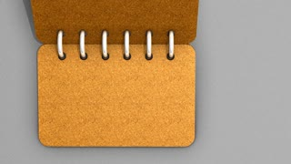 Paper note book flipping page animation.