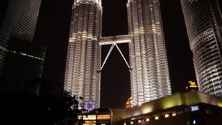 Petronas twin tower(KLCC) night view.