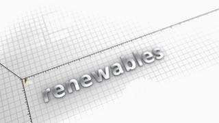 Renewables energy growing chart animation.