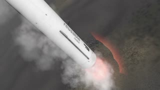 Reusable rocket booster landing.