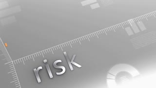 Risk decreasing chart, statistic and data