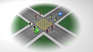 Road traffic light concept animation.
