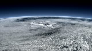 Satellite captured, typhoon view from space