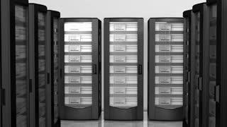 Server room, mass, data center, cloud, technology.