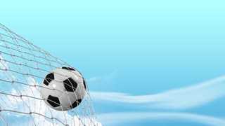 Soccer goal scored, alpha matte include.