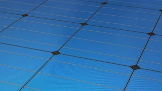 Solar panel and sky background, concept animation