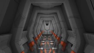 Spaceship corridor scene