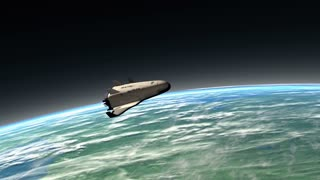 Spaceship reentry, descending