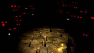 Spooky maze, monster, mystery.