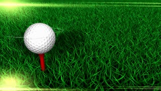 Sports background, golf, ball, field, grass.