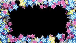 Star video frame, placement, placeholder. Matte
