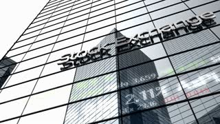 Stock market building, office, headquarter, main, broker, finance.