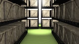 Storage room, warehouse, store, goods, box.