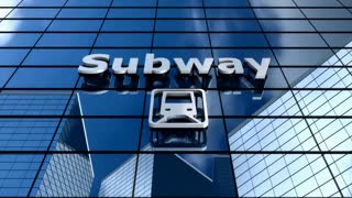 Subway building blue sky timelapse.