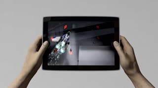 Tablet pc gaming, alpha matte included.