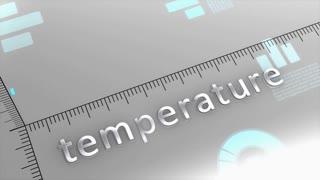 Temperature decreasing chart, statistic and data