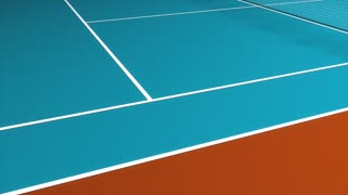 Tennis court, facility, sport, racket, indoor.