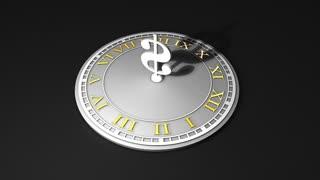 Time concept animation, precious, gold, watch, clock, money.
