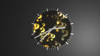 Time concept animation, precious, gold, watch, clock.