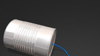 Tin can phone, basic, simple, wire, transmit, toy.