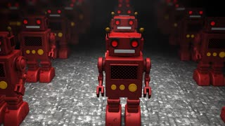 Toy robot army invasion, fun, game, fiction.