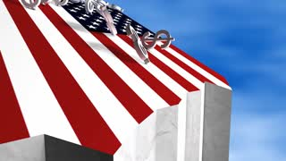 US fiscal cliff, concept, economy, meltdown, crisis.