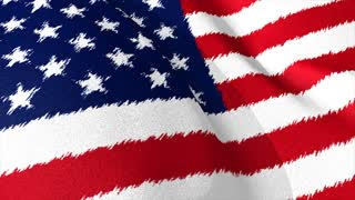 USA flag brush strokes, art, background.