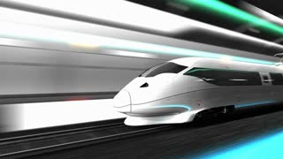 Animation High speed rail