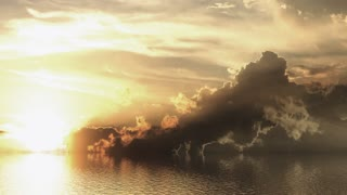 Beautiful sea sunset view