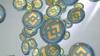 Binance coin, Digital currency animation.